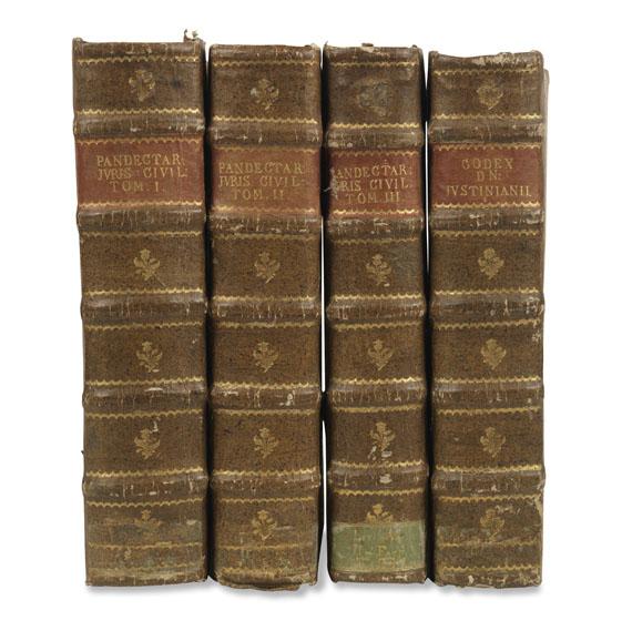 Justinianus - Digestum vetus seu pandectarum iuris Civilis. 4 Bde.