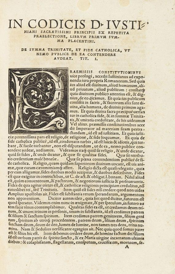 Petrus Placentinus - In Codicis DN Iustiani