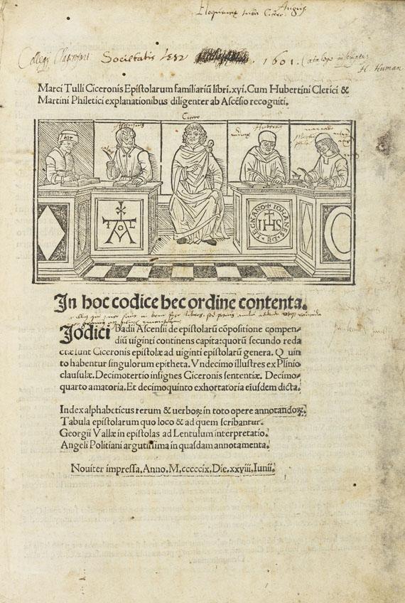 Marcus Tullius Cicero - Epistolarum familiarum. Dabei: Opera omnia. 2 Werke