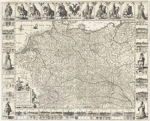 Claes Jansz. Visscher - 1 Bl. Germaniae post omnes in hac forma