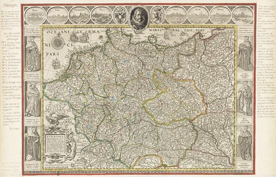 Willem Janszoon Blaeu - 1 Bl. Germania (mit drei Randleisten)
