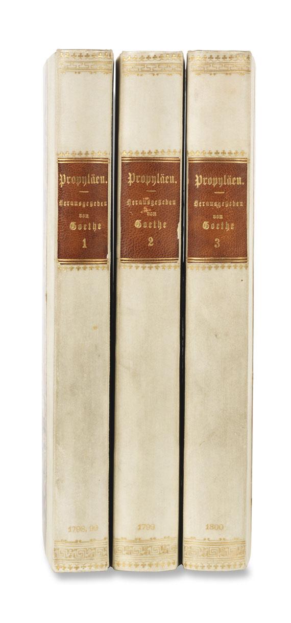 Johann Wolfgang von Goethe - Propyläen. 3 Bde. Dabei: Sulzer. 4 Bde.