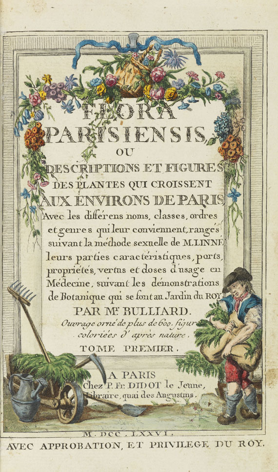 Pierre Bulliard - Flora Parisiensis. 6 Bände