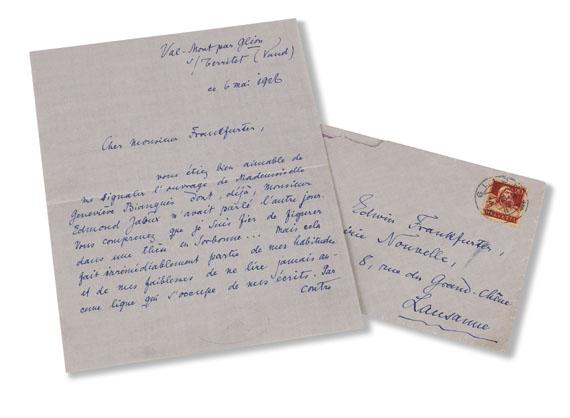 Rainer Maria Rilke - Eigenhändiger Brief an Edwin Frankfurter - Weitere Abbildung