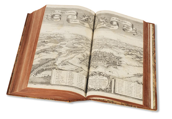 Matthäus Merian - Topographia Helvetiae/Sveviae/Alsatiae. 3 Werke in 1 Band