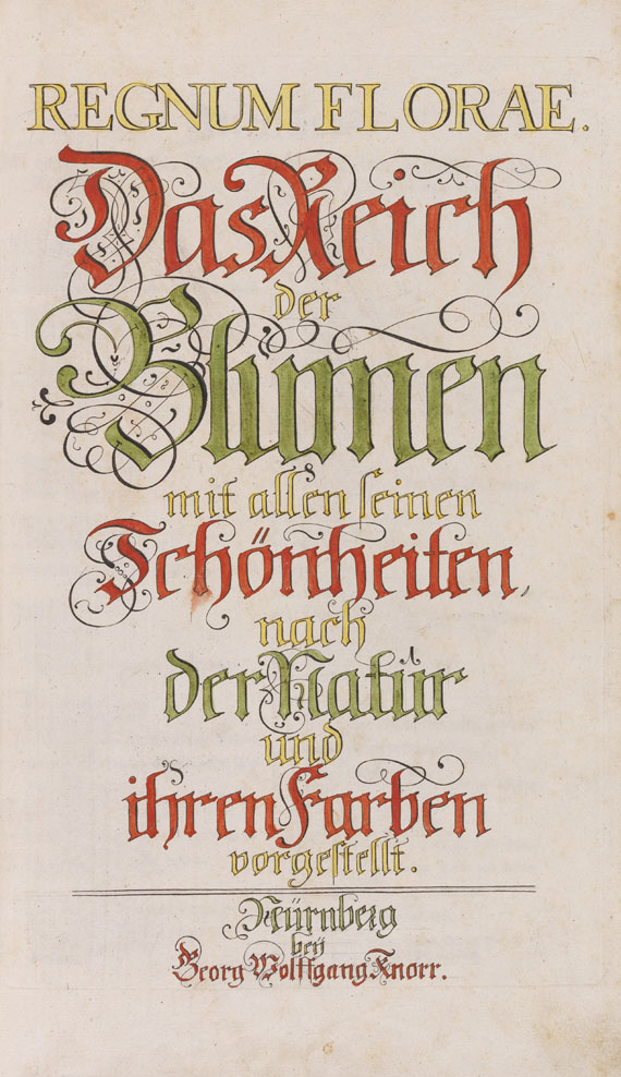 Georg Wolfgang Knorr - Regnum florae