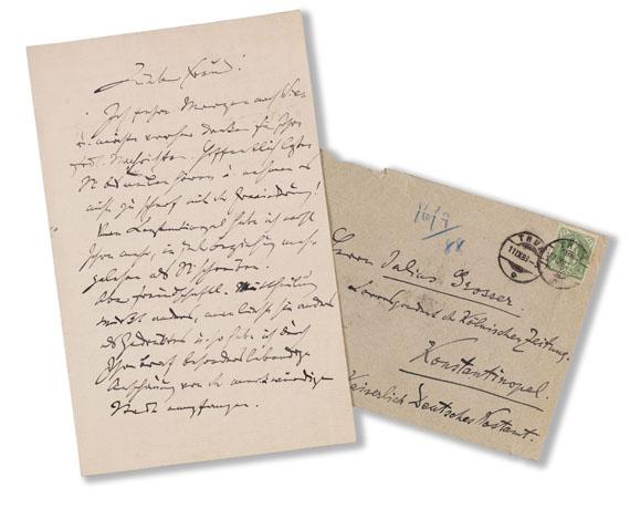 Johannes Brahms - Eigenhändiger Brief - Weitere Abbildung