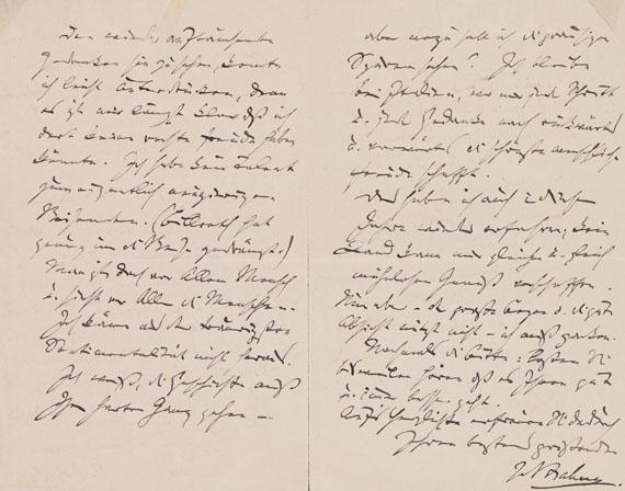 Johannes Brahms - Eigenhändiger Brief