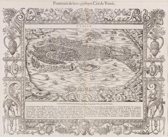 Sebastian Münster - 1 Bl. Pourtraict de la magnifique Cité de Venise (Belleforest)