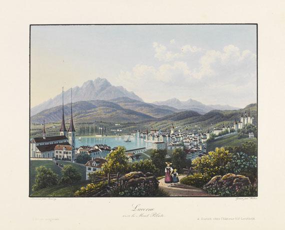 Hans Felix Leuthold - Vues pittoresque de la Suisse -