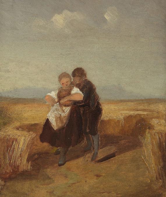 Carl Spitzweg - Bub und Mädchen im Kornfeld