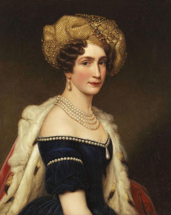 Joseph Karl Stieler - Auguste Amalie Prinzessin von Bayern, Herzogin von Leuchtenberg (1788-1851)