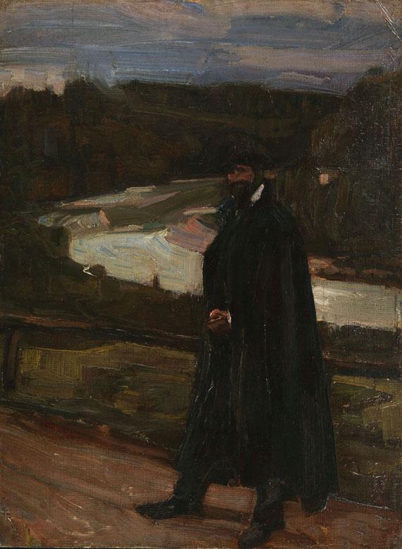 Albert Weisgerber - Mann im Isartal