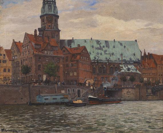 Friedrich Kallmorgen - Blick auf die St. Katharinenkirche in Hamburg