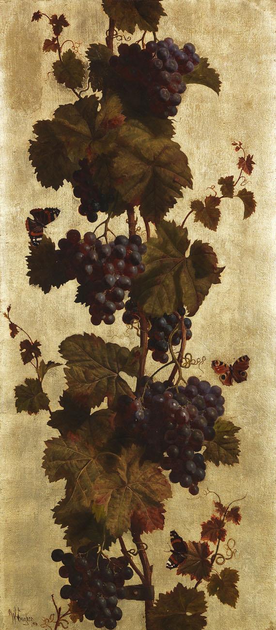 William Hughes - Weinreben, weiß und rot
