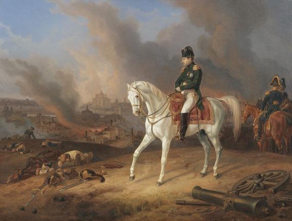 Albrecht Adam - Napoleon vor dem brennenden Smolensk
