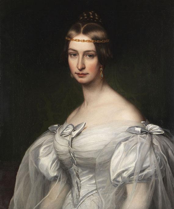 Friedrich Dürck - Bildnis der Caroline Krafft, geb. Platner (1811-1873)