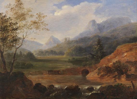 Johann Georg von Dillis - (Zugeschrieben) - Voralpenlandschaft