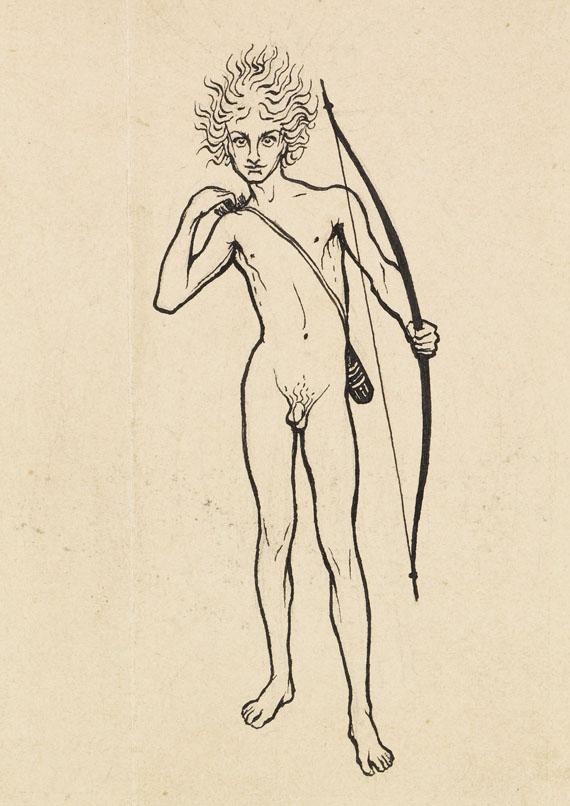 (d. i. Hugo Höppener) Fidus - 17 Bll.: Entwurfszeichnungen - Weitere Abbildung