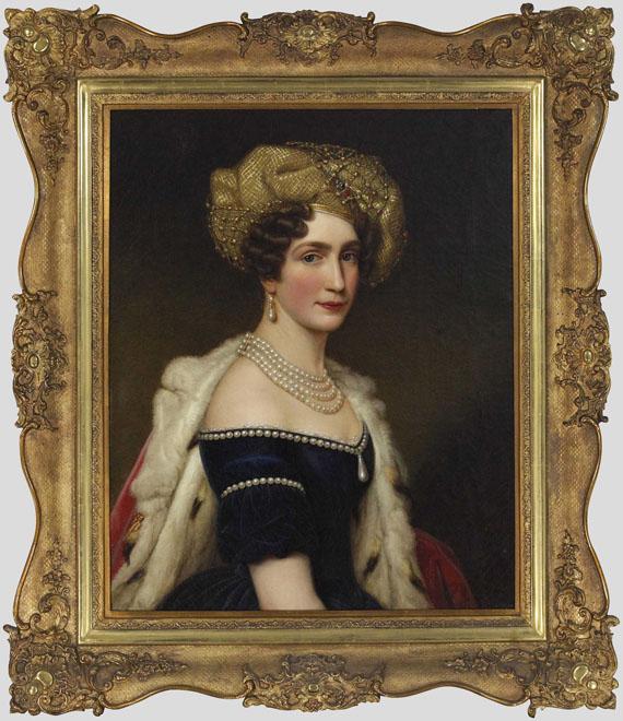 Joseph Karl Stieler - Auguste Amalie Prinzessin von Bayern, Herzogin von Leuchtenberg (1788-1851) - Rahmenbild