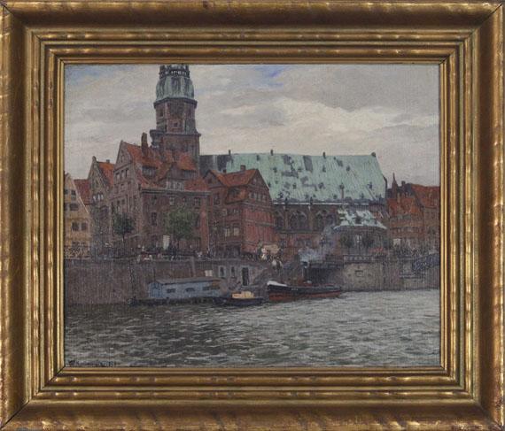 Friedrich Kallmorgen - Blick auf die St. Katharinenkirche in Hamburg - Frame image