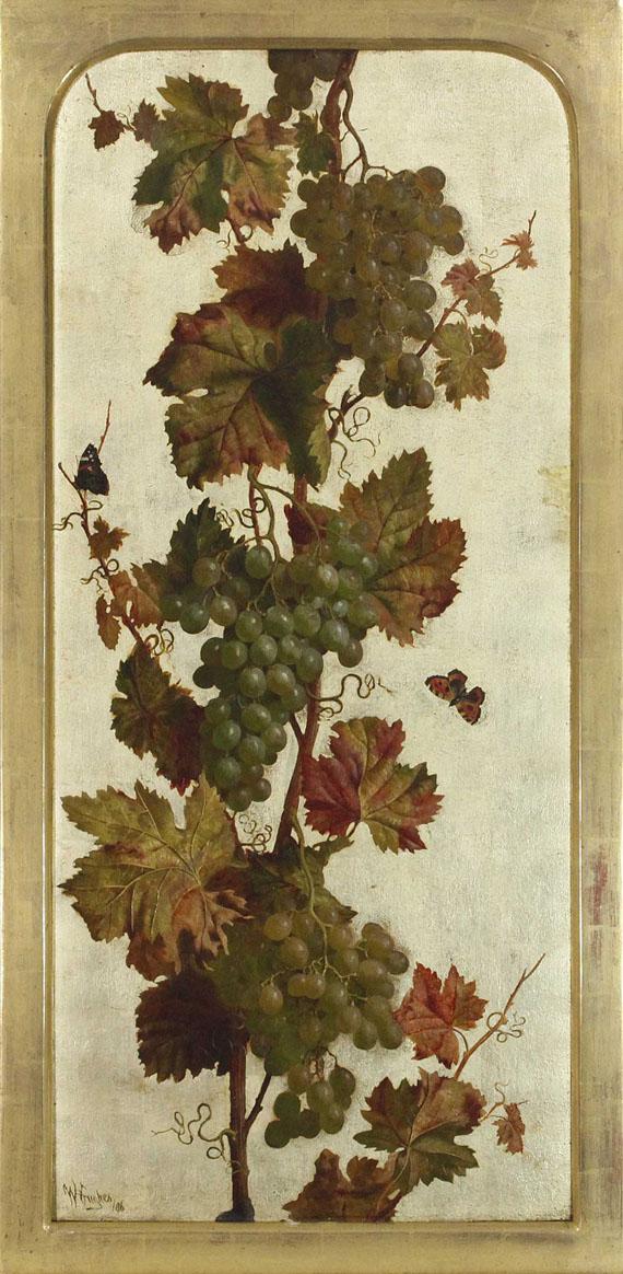 William Hughes - Weinreben, weiß und rot - Rahmenbild
