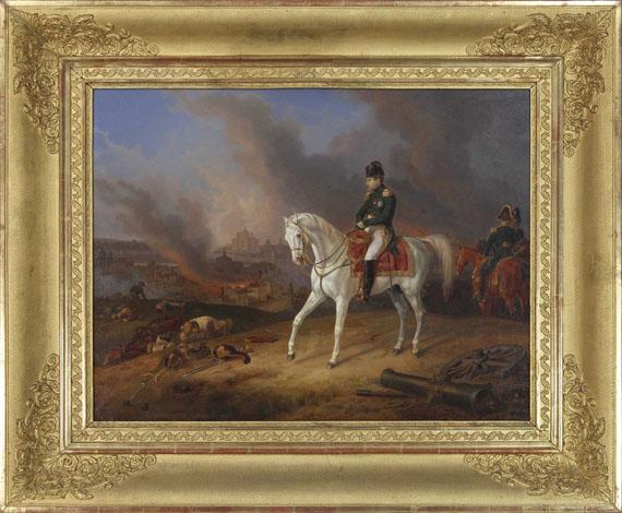 Albrecht Adam - Napoleon vor dem brennenden Smolensk - Rahmenbild
