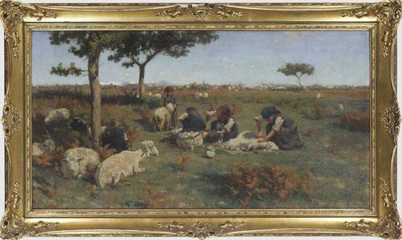 Stefano Bruzzi - Die Schafschur - Rahmenbild