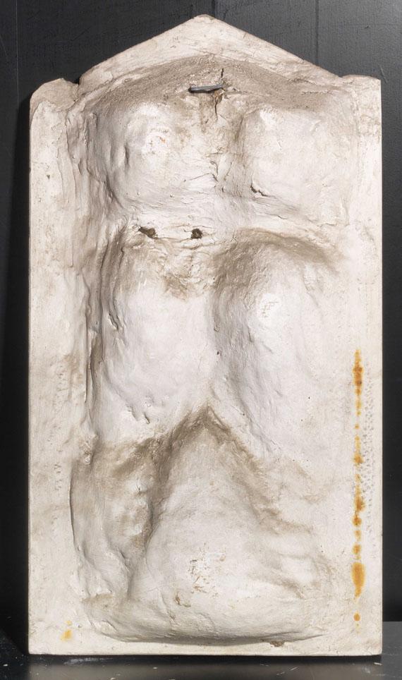 Franz von Stuck - Flöte blasender Faun (Syrinx blasender Pan) - Rückseite