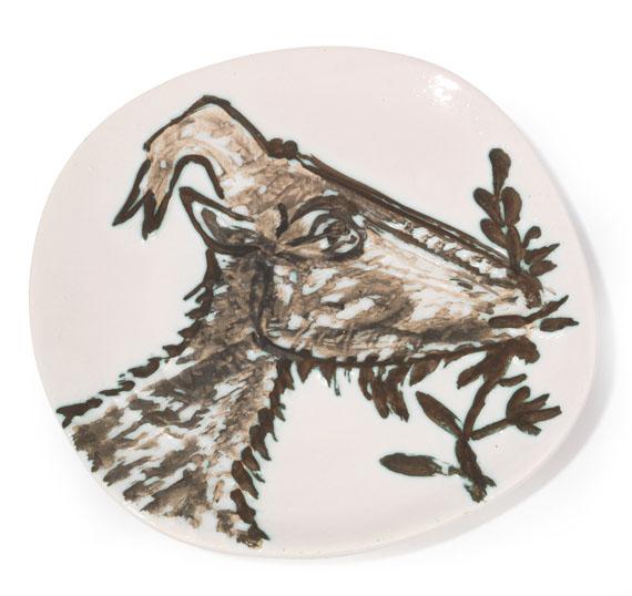 Pablo Picasso - Goat's head in profile