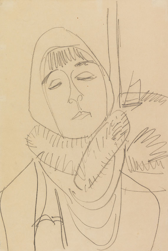 Ernst Ludwig Kirchner - Porträt Erna Schilling