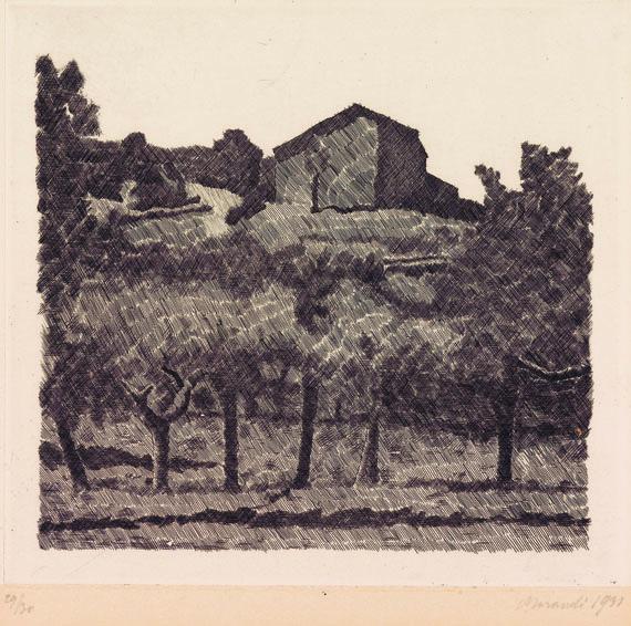 Giorgio Morandi - Paessaggio di Grizzana, le Lame