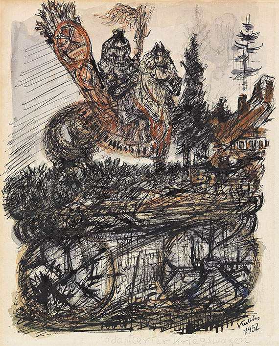 Alfred Kubin - Adaptierter Kriegswagen