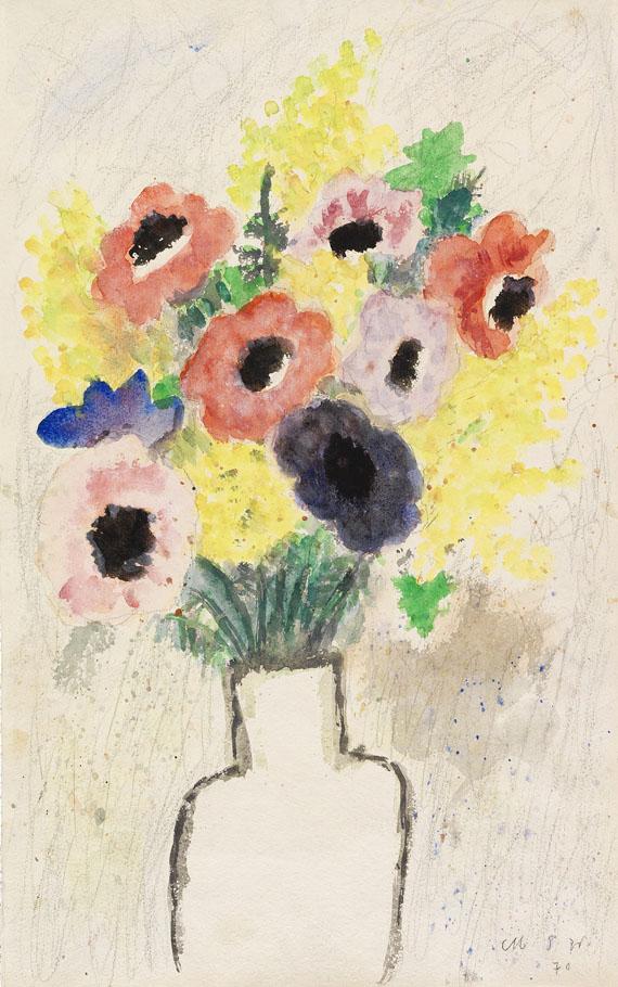 Max Peiffer Watenphul - Blumenstilleben mit Anemonen und Mimosen
