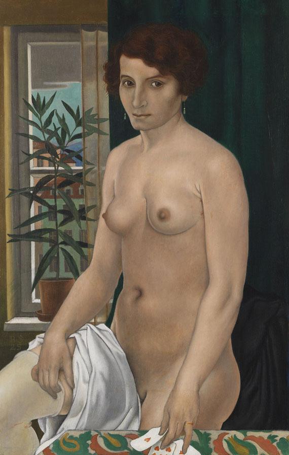 Bruno Paul Seener - Kartenlegender Akt am Fenster (Renaissance)
