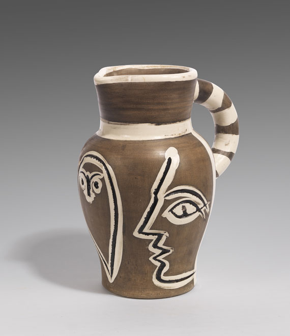 Pablo Picasso - Grey engraved pitcher
