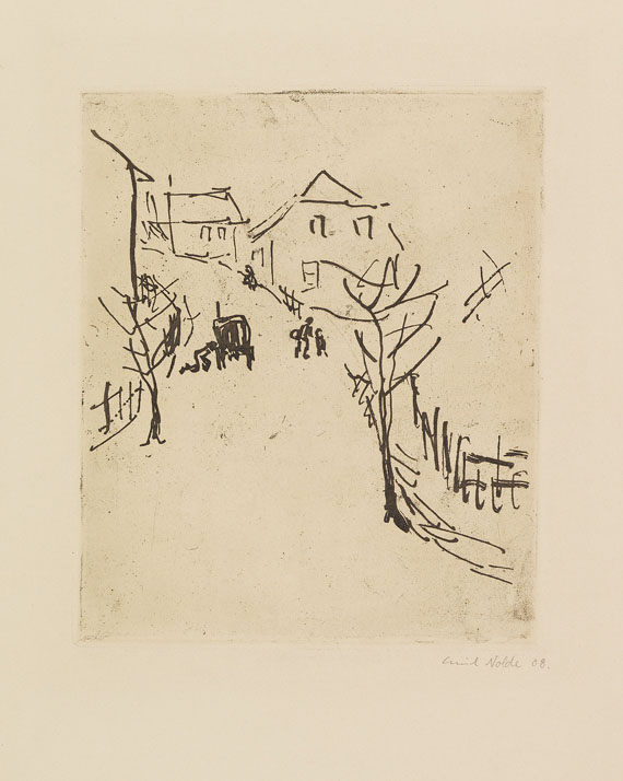 Emil Nolde - Dorfstraße
