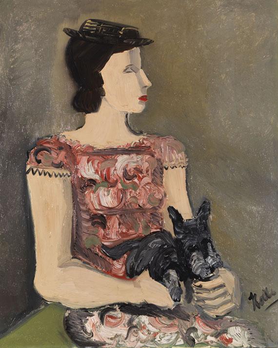 Helmut Kolle gen. vom Hügel - Portrait d´une jeune fille (Mme de Lombré)