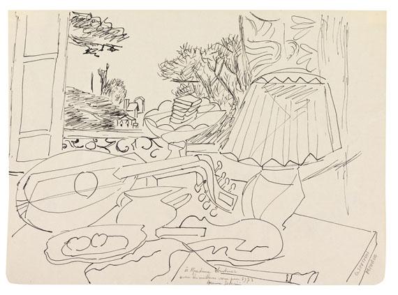 """Gino Severini - Composition (Studie für das Gemälde """"Le luth. Fenêtre sur Meudon"""")"""