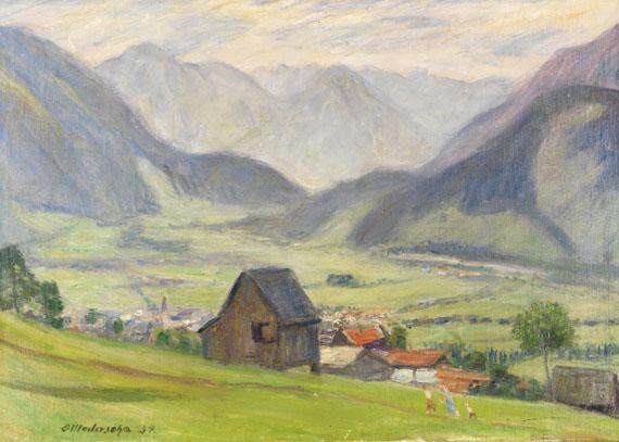 Otto Modersohn - Blick ins Tal (Hindelang)