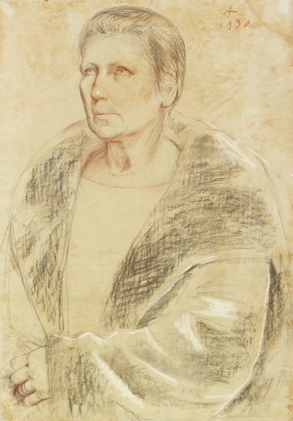 Otto Dix - Bildnis Frau Helene Erfurt mit Pelz