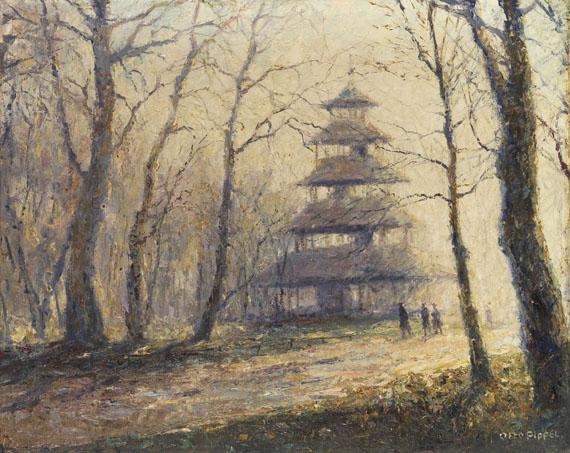 Otto Pippel - Morgenlicht am Chinesischen Turm in München