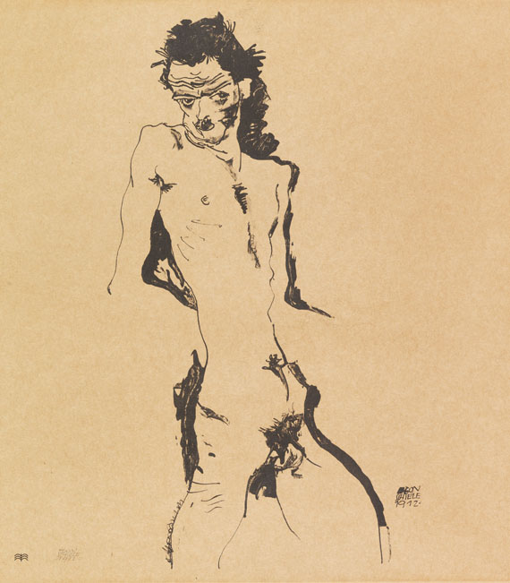 Egon Schiele - Männlicher Akt