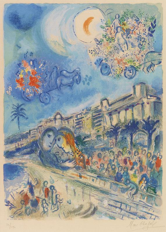 Marc Chagall - Bataille de fleurs