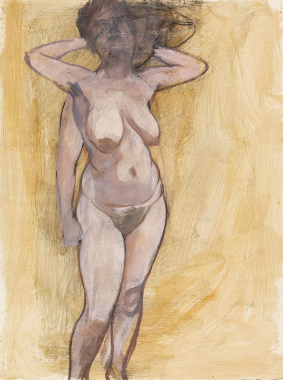 George Grosz - Standing Female Nude in Two Poses