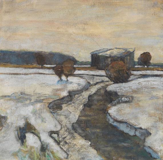 Adolf Hölzel - Dachauer Moorlandschaft im Winter