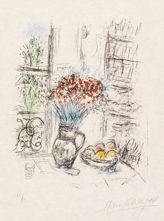 Marc Chagall - Les Roses pompons