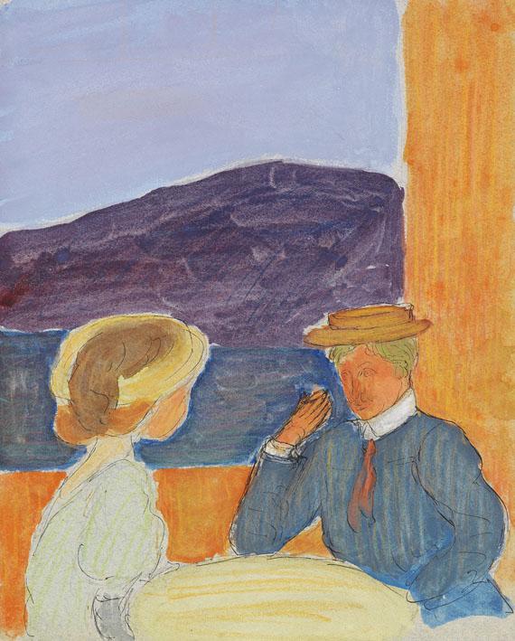 Marianne von Werefkin - Paar im Gespräch