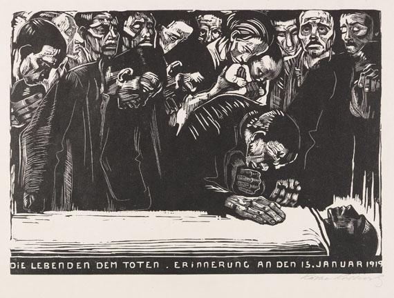 Käthe Kollwitz - Gedenkblatt für Karl Liebknecht