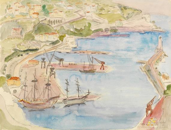 Erich Heckel - Blick auf den Hafen von Nizza